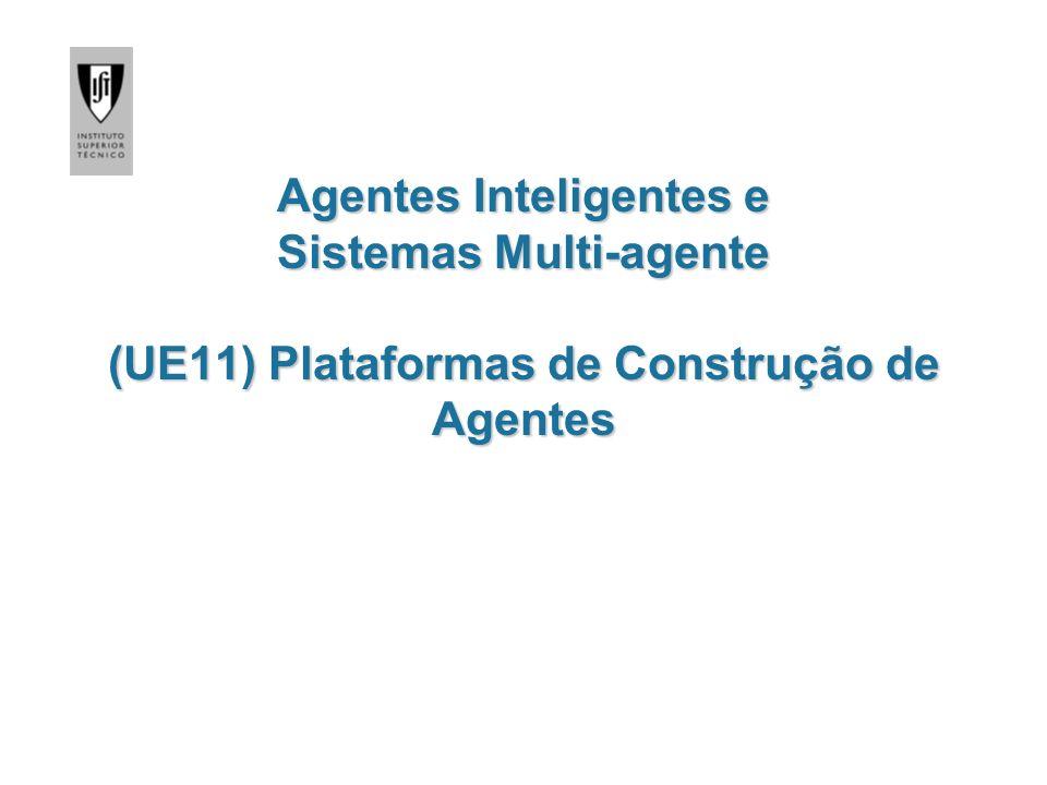 Agentes Inteligentes e Sistemas Multi-agente (UE11) Plataformas de Construção de Agentes