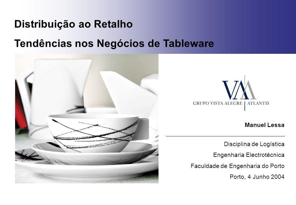 Distribuição ao Retalho Tendências nos Negócios de Tableware Manuel Lessa _______________________________________________ Disciplina de Logística Enge