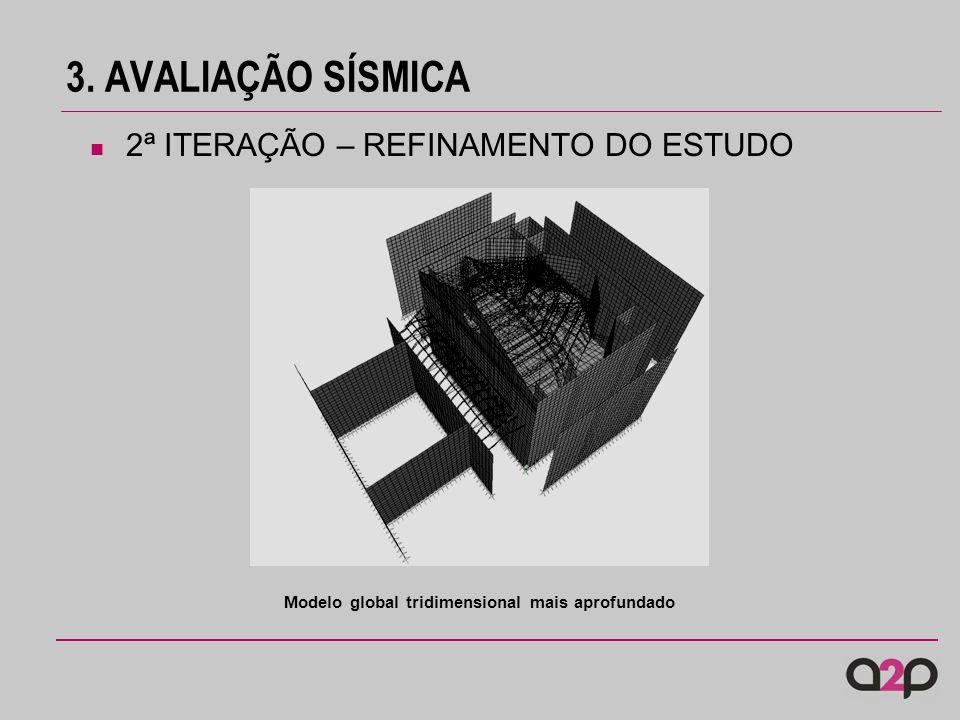 3. AVALIAÇÃO SÍSMICA 2ª ITERAÇÃO – REFINAMENTO DO ESTUDO Modelo global tridimensional mais aprofundado
