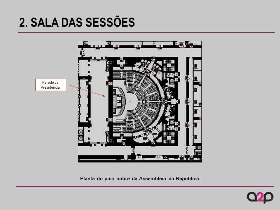 2. SALA DAS SESSÕES Planta do piso nobre da Assembleia da República Parede da Presidência