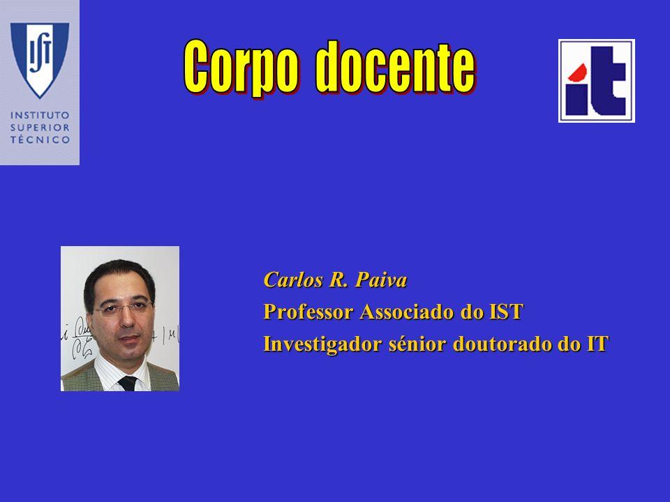 Carlos R. Paiva Professor Associado do IST Investigador sénior doutorado do IT