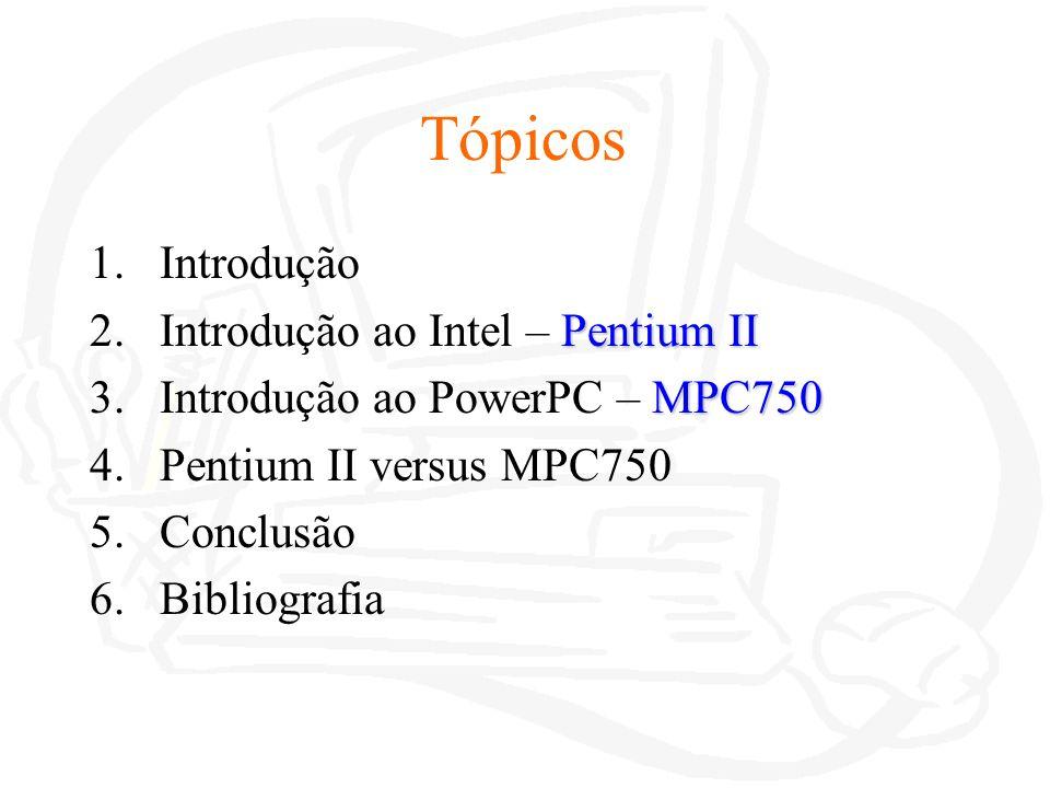 Instruções Pentium II Instruções de carregamento: lea Instruções de transferência de dados: mov Instruções de controlo e transferência: jmp Instruções aritméticas binárias: add