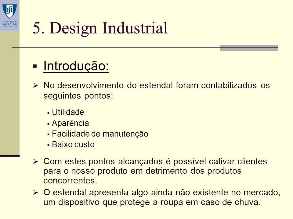 4. Geração de Conceitos Esboço: Porta-rolos Barras de suporte da estrutura Varetas para suporte da roupa