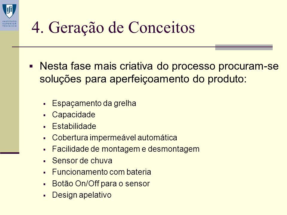 3. Benchmarking Problemas detectados: Falta de estabilidade Fragilidade da construção Altura excessiva Inexistência de uma cobertura em caso de chuva