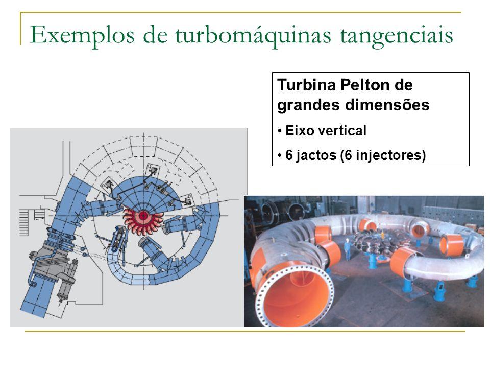Turbina Pelton de grandes dimensões Eixo vertical 6 jactos (6 injectores)