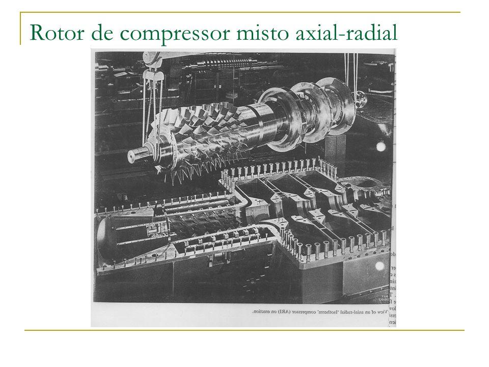 Rotor de compressor misto axial-radial