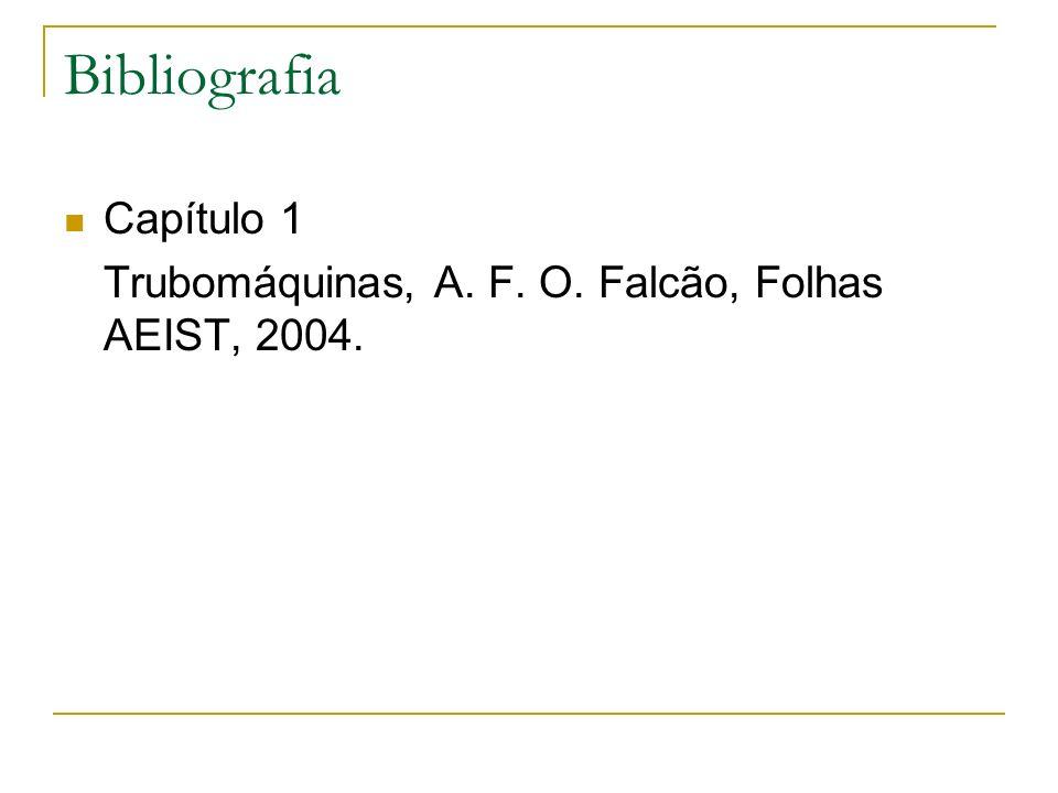 Bibliografia Capítulo 1 Trubomáquinas, A. F. O. Falcão, Folhas AEIST, 2004.