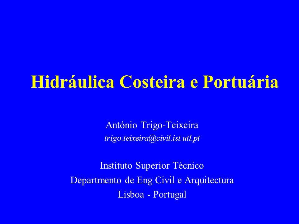 Hidráulica Costeira e Portuária António Trigo-Teixeira trigo.teixeira@civil.ist.utl.pt Instituto Superior Técnico Departmento de Eng Civil e Arquitect