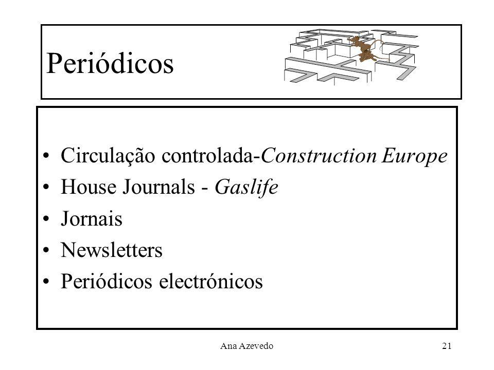 Ana Azevedo21 Periódicos Circulação controlada-Construction Europe House Journals - Gaslife Jornais Newsletters Periódicos electrónicos