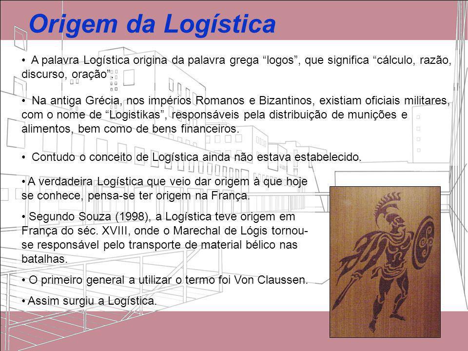 Origem da Logística A palavra Logística origina da palavra grega logos, que significa cálculo, razão, discurso, oração. A verdadeira Logística que vei