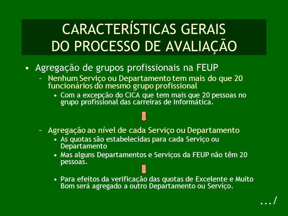 REGRAS PARA A AVALIAÇÃO DAS COMPETÊNCIAS As competências foram definidas em função dos diferentes grupos profissionais (Dec.
