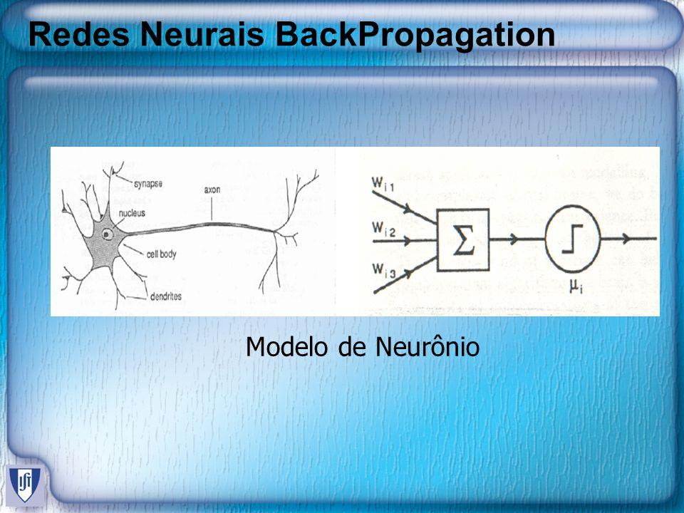 Redes Neurais BackPropagation Modelo de Neurônio