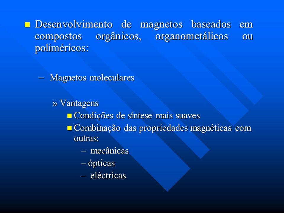 Desenvolvimento de magnetos baseados em compostos orgânicos, organometálicos ou poliméricos: Desenvolvimento de magnetos baseados em compostos orgânic