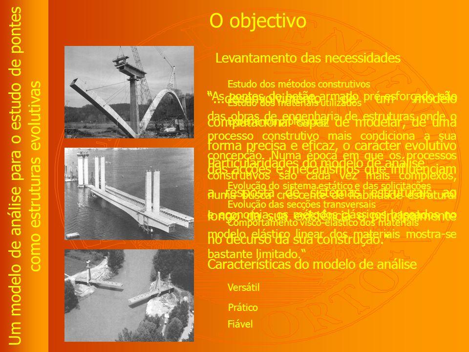 Um modelo de análise para o estudo de pontes como estruturas evolutivas