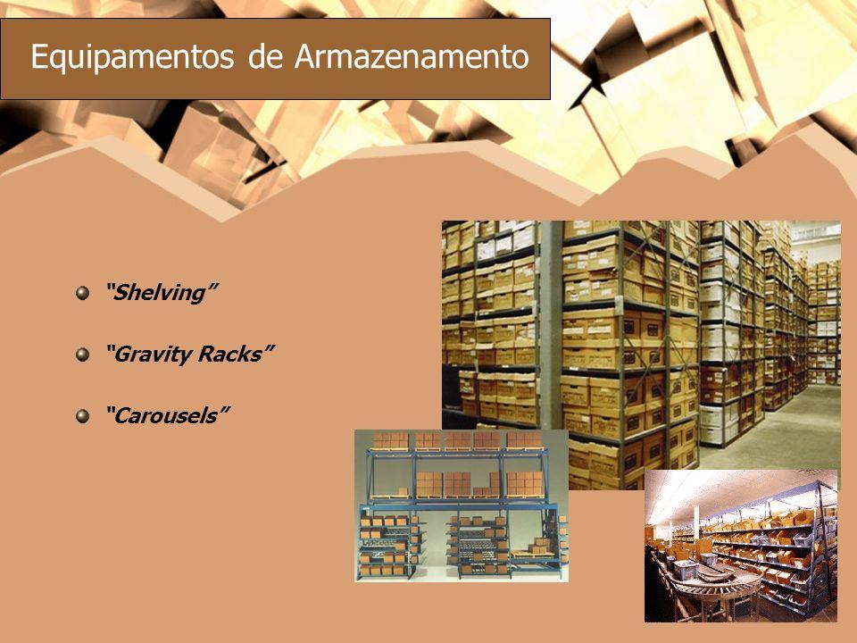 Equipamentos de Armazenamento Shelving Gravity Racks Carousels
