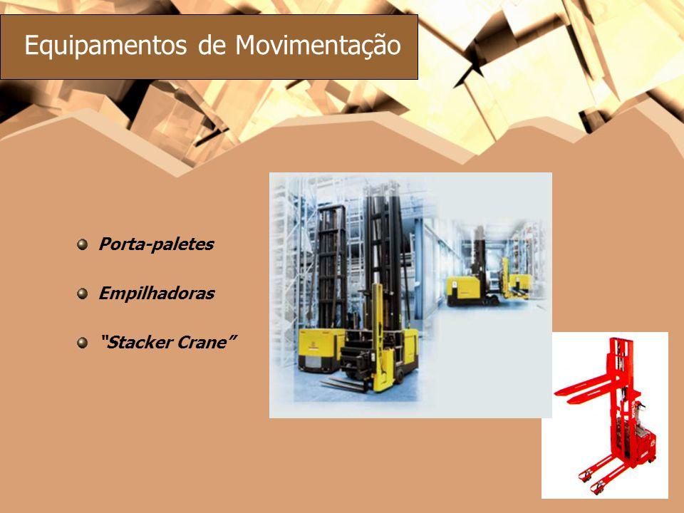 Equipamentos de Movimentação Porta-paletes Empilhadoras Stacker Crane