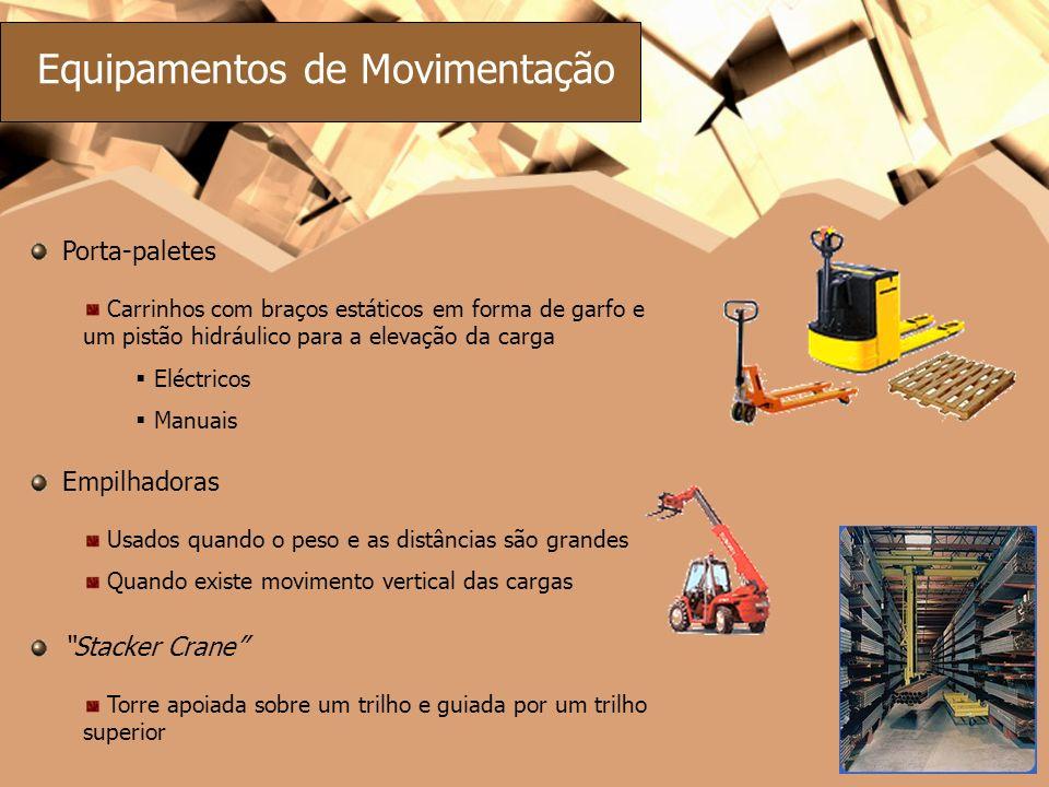 Equipamentos de Movimentação Porta-paletes Carrinhos com braços estáticos em forma de garfo e um pistão hidráulico para a elevação da carga Eléctricos