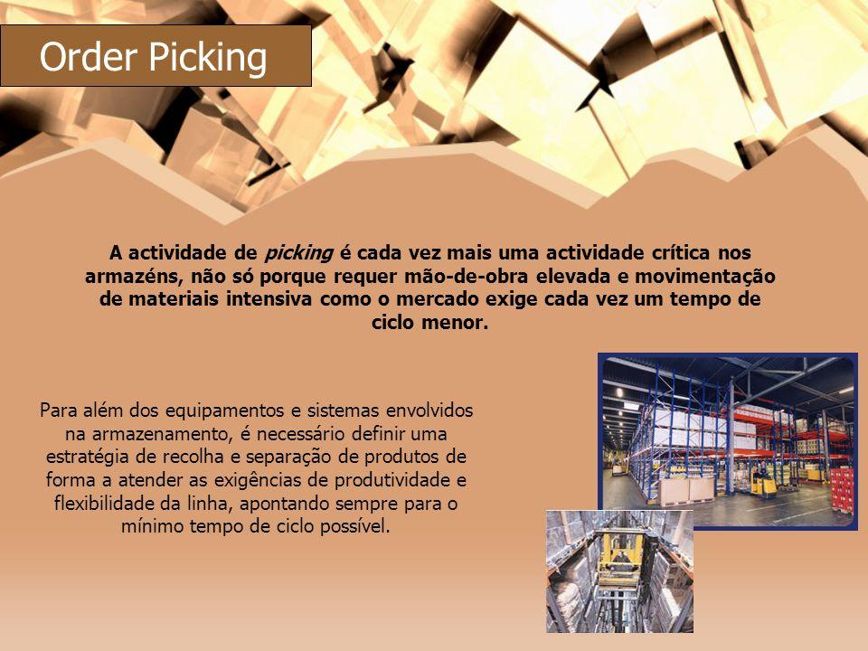 A actividade de picking é cada vez mais uma actividade crítica nos armazéns, não só porque requer mão-de-obra elevada e movimentação de materiais inte