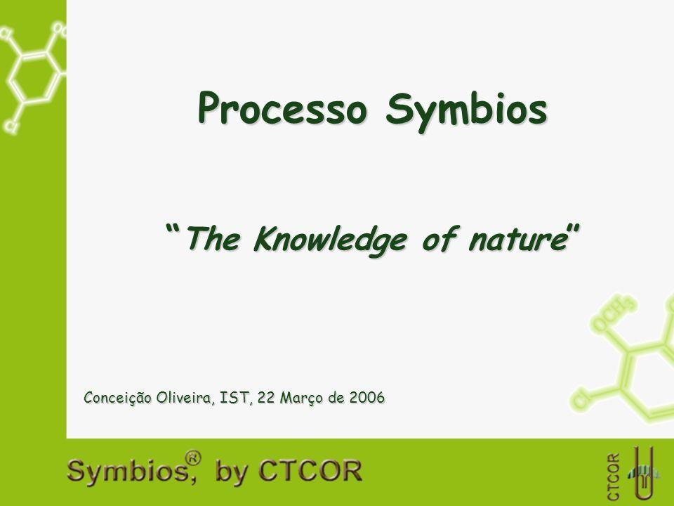 Processo Symbios The Knowledge of nature The Knowledge of nature Conceição Oliveira, IST, 22 Março de 2006
