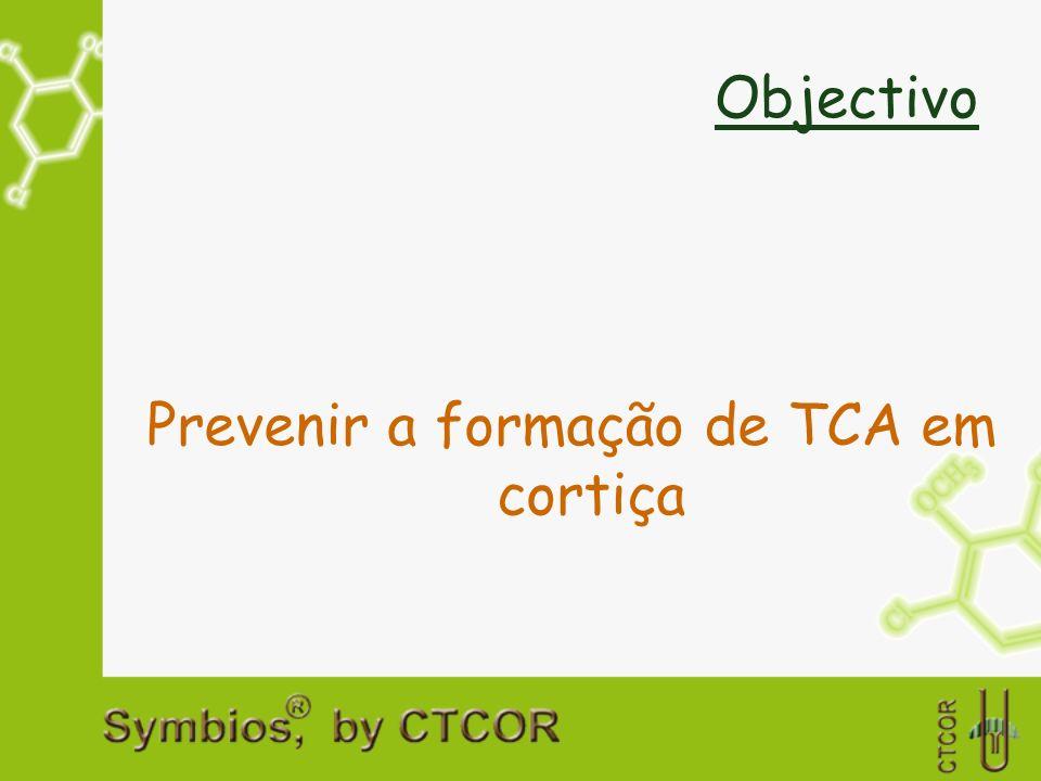 Objectivo Prevenir a formação de TCA em cortiça