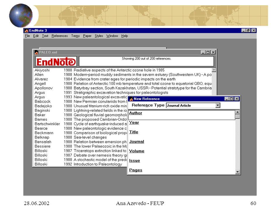 28.06.2002Ana Azevedo - FEUP60