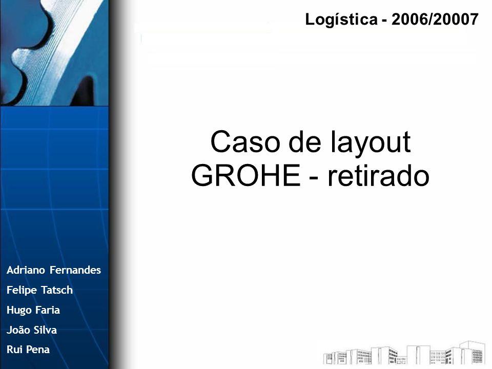 Adriano Fernandes Felipe Tatsch Hugo Faria João Silva Rui Pena Caso de layout GROHE - retirado Logística - 2006/20007