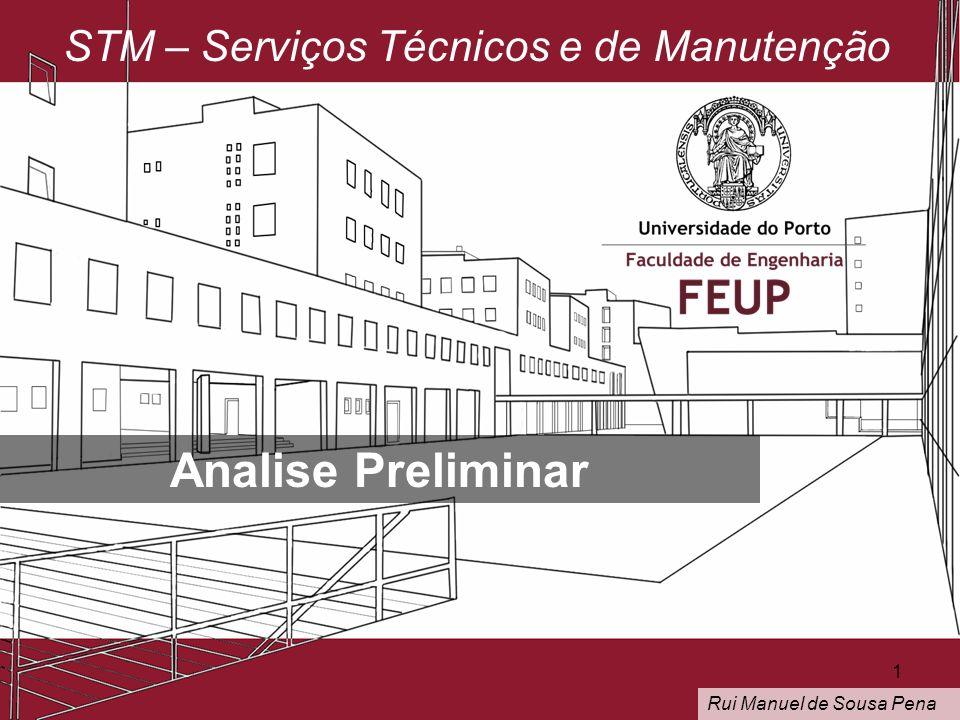 STM – Serviços Técnicos e de Manutenção Analise Preliminar Rui Manuel de Sousa Pena 1