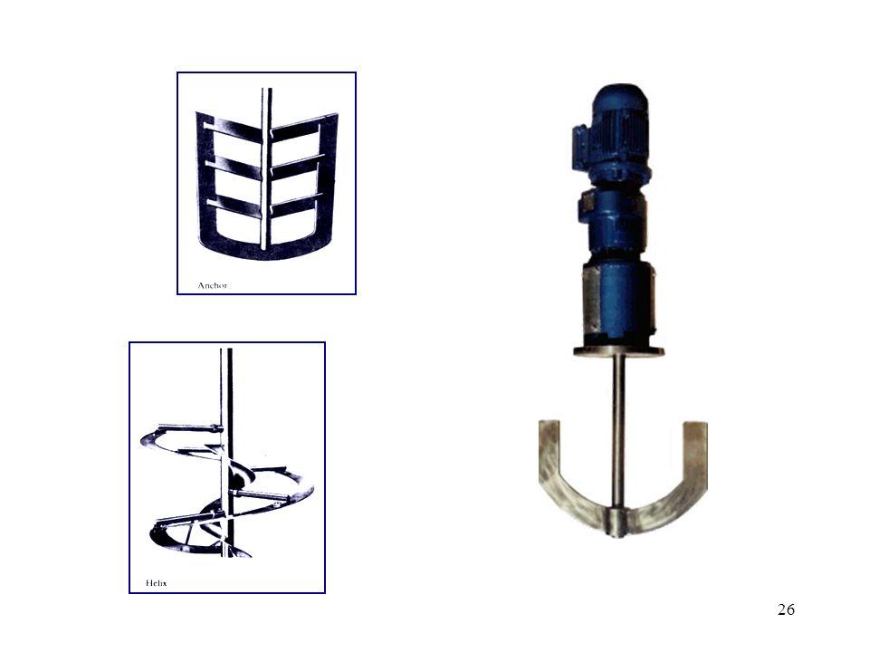 27 o tipo de agitador a usar depende fortemente da viscosidade do líquido hélice turbina pá âncora (anchor) (5 a 50 Pa s) fita helicoidal (helix) viscosidade aumenta velocidade de rotação aumenta os agitadores usados em mistura turbulenta normalmente possuem D/T igual a 1/3 gama de variação:0,2 D/T 0,5
