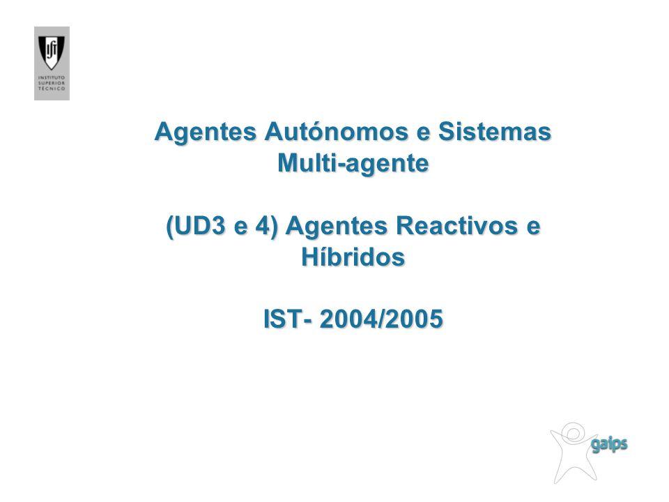 Agentes Autónomos e Sistemas Multi-agente (UD3 e 4) Agentes Reactivos e Híbridos IST- 2004/2005