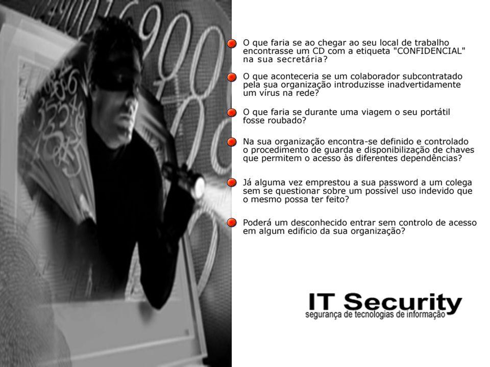 12 8- Desenvolvimento e Manutenção dos sistemas Garantir a inclusão de mecanismos de segurança nos sistemas operacionais; Prevenir a perda, modificação ou má utilização dos dados dos utilizadores em aplicações dos sistemas; Proteger a confidencialidade, auntenticidade e integridade da informação; Assegurar que os projectos informáticos e actividades de suporte são levados a cabo de forma segura; Manter a segurança dos dados e aplicações dos sistemas.