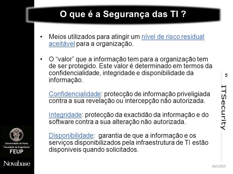5 O que é a Segurança das TI .