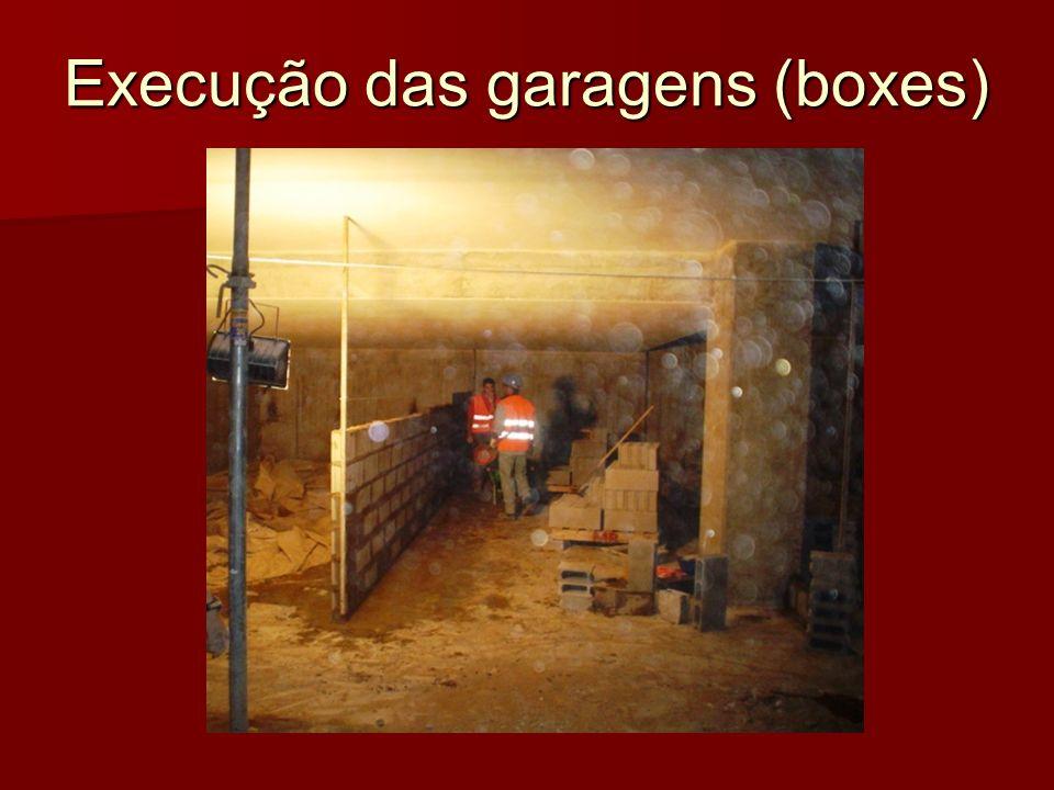 Execução das garagens (boxes)