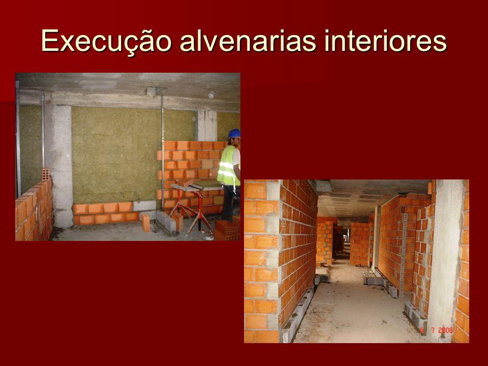 Execução alvenarias interiores