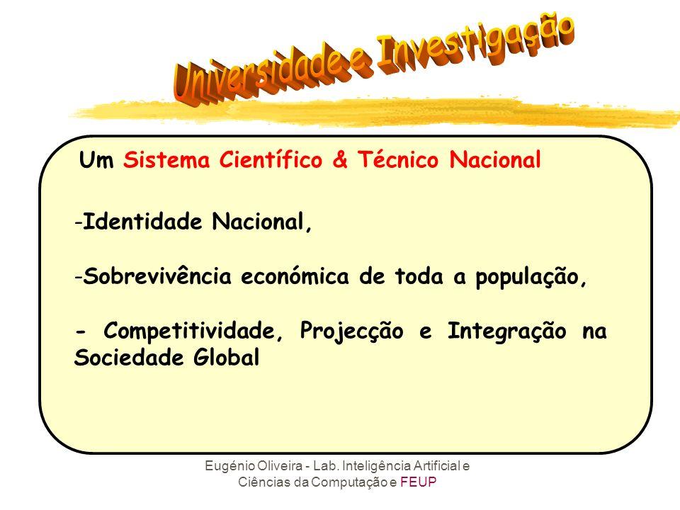 Eugénio Oliveira - Lab. Inteligência Artificial e Ciências da Computação e FEUP Um Sistema Científico & Técnico Nacional -Identidade Nacional, -Sobrev