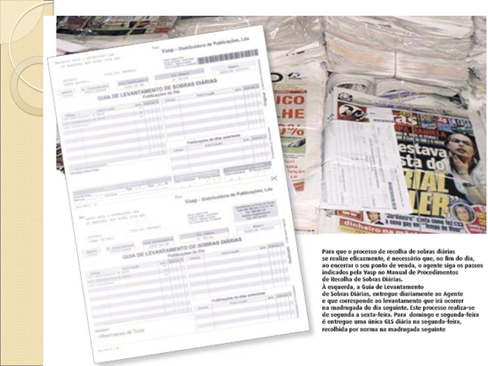 VASP – Recolha de sobras diárias São enviados relatórios aos Editores sobre o estado das vendas para que se proceda a ajustes: Minimização dos efeitos