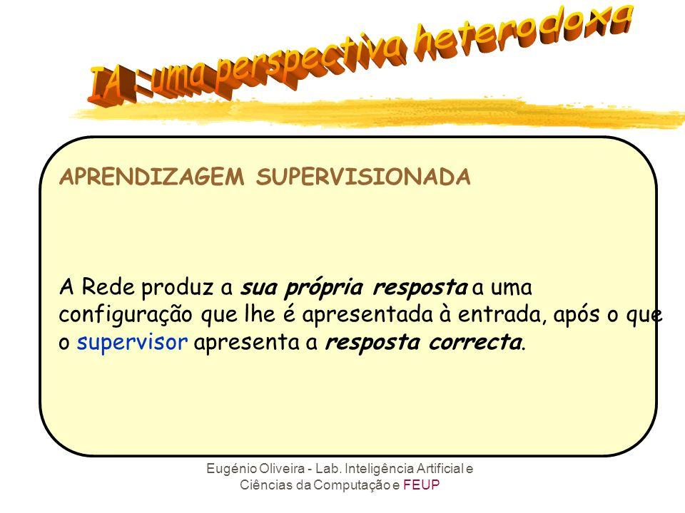 APRENDIZAGEM SUPERVISIONADA A Rede produz a sua própria resposta a uma configuração que lhe é apresentada à entrada, após o que o supervisor apresenta