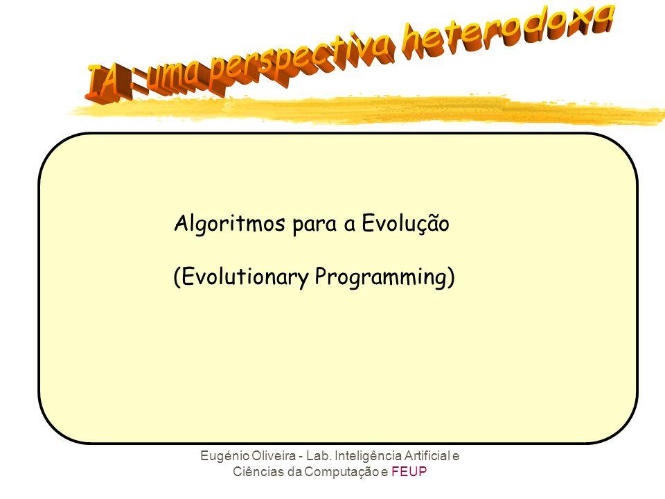 Eugénio Oliveira - Lab. Inteligência Artificial e Ciências da Computação e FEUP 3.3 APRENDIZAGEM NÃO SUPERVISIONADA O algoritmo extrai alguma estrutur