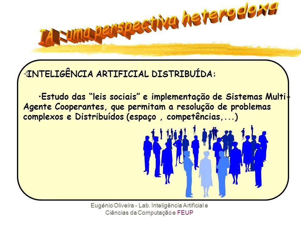 Eugénio Oliveira - Lab. Inteligência Artificial e Ciências da Computação e FEUP Anos 90: Distribuição e Sociedades Durkheim Vs Turing Conectividade