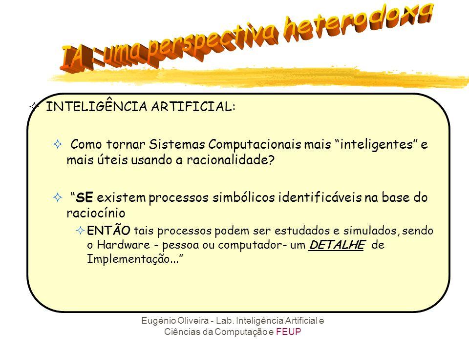 Eugénio Oliveira - Lab. Inteligência Artificial e Ciências da Computação e FEUP Sistemas que pensam como os Humanos Sistemas que pensam Racionalmente