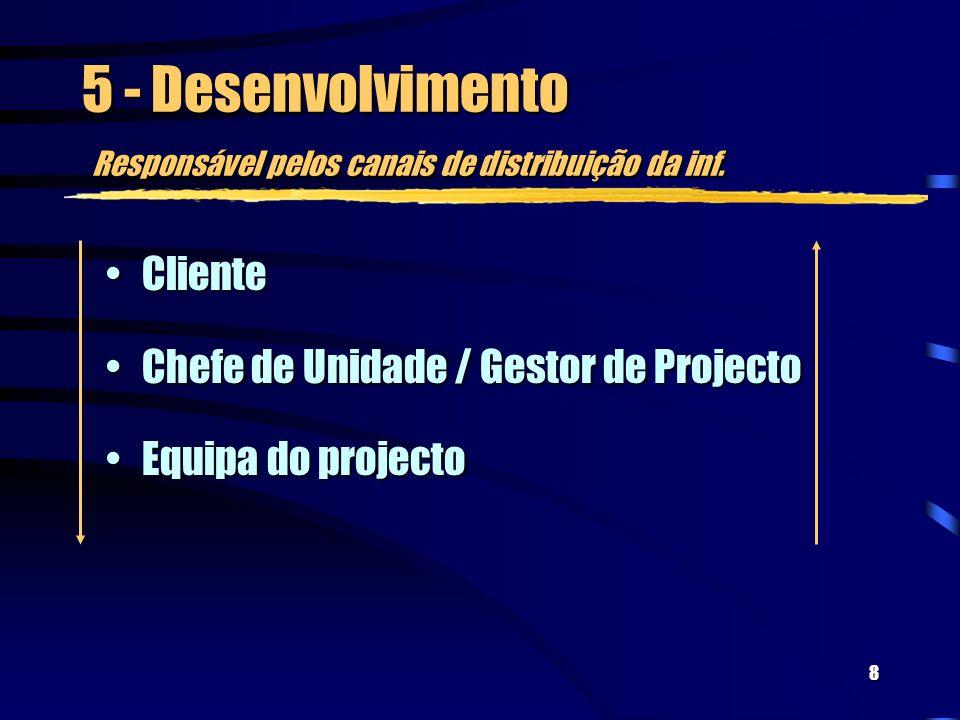 8 5 - Desenvolvimento Responsável pelos canais de distribuição da inf.