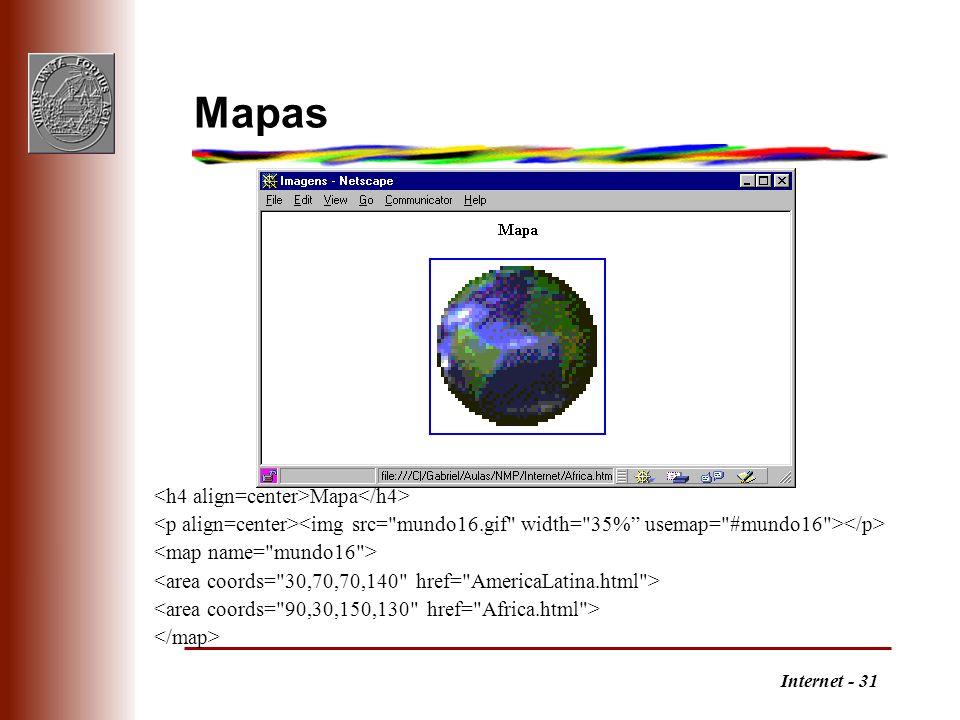 Internet - 31 Mapas Mapa