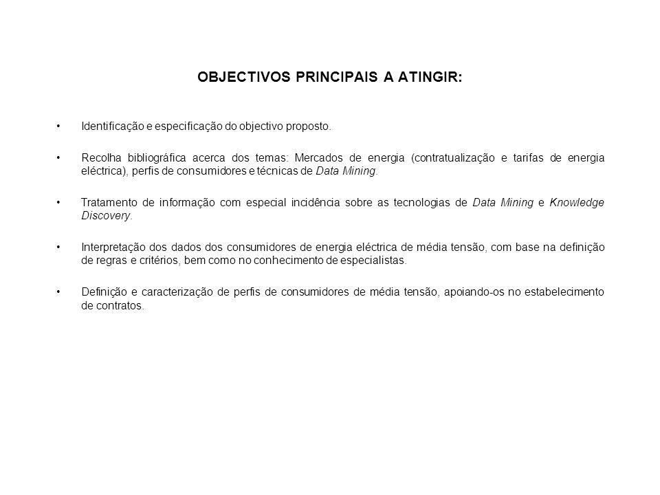 OBJECTIVOS PRINCIPAIS A ATINGIR: Identificação e especificação do objectivo proposto.