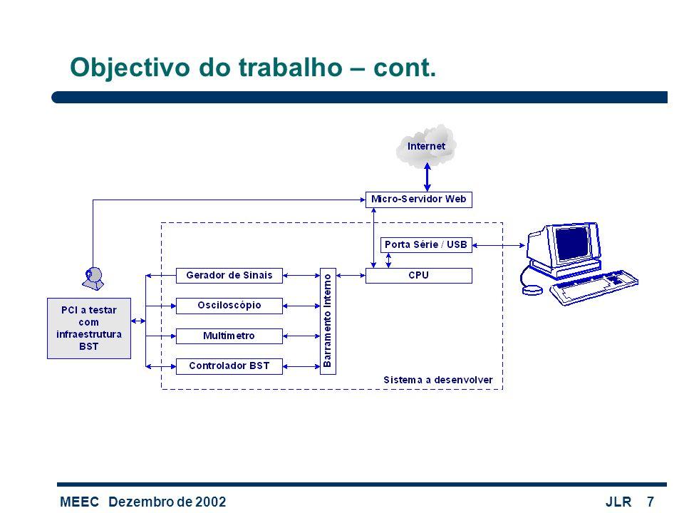 MEECDezembro de 2002JLR7 Objectivo do trabalho – cont.