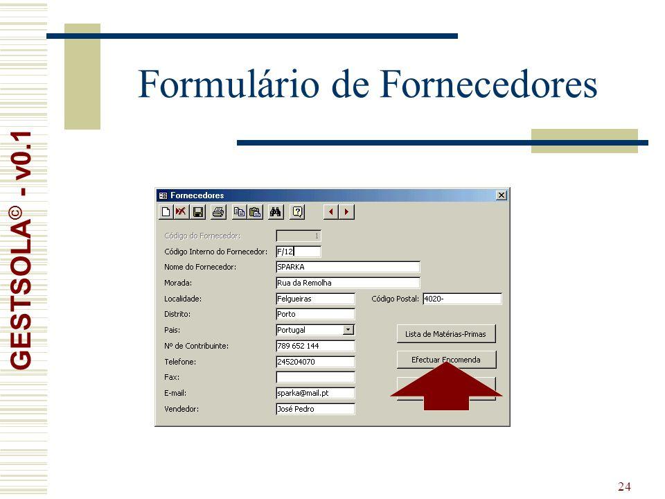 24 Formulário de Fornecedores GESTSOLA © - v0.1