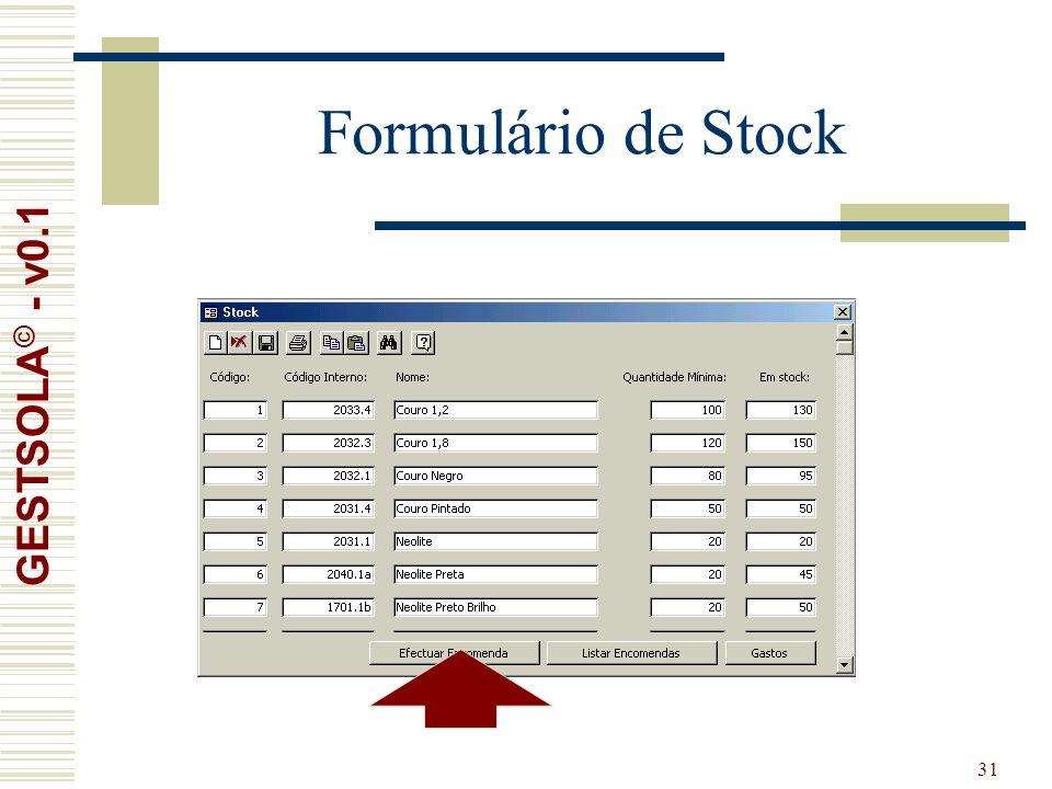 31 Formulário de Stock GESTSOLA © - v0.1