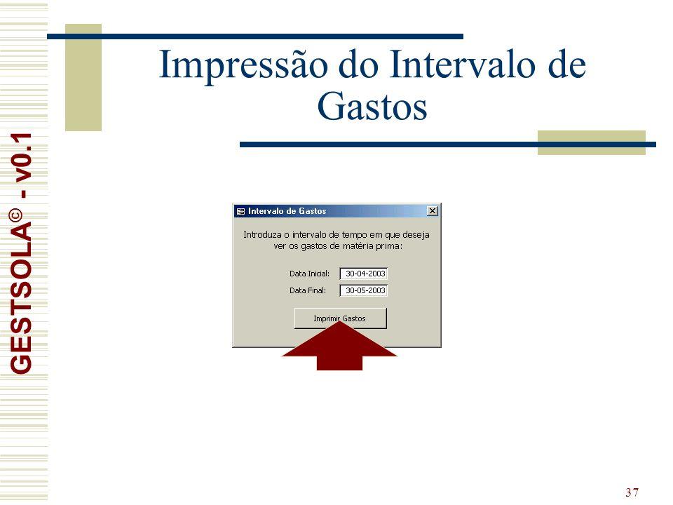 37 Impressão do Intervalo de Gastos GESTSOLA © - v0.1