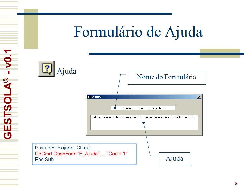 39 Formulário de Stock GESTSOLA © - v0.1