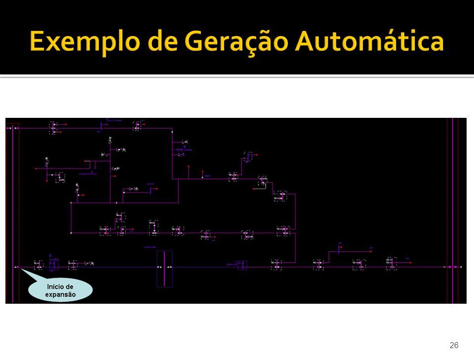 26 Exemplo de Geração Automática