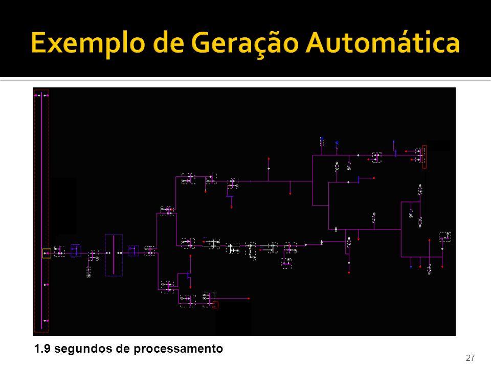 27 Exemplo de Geração Automática 1.9 segundos de processamento