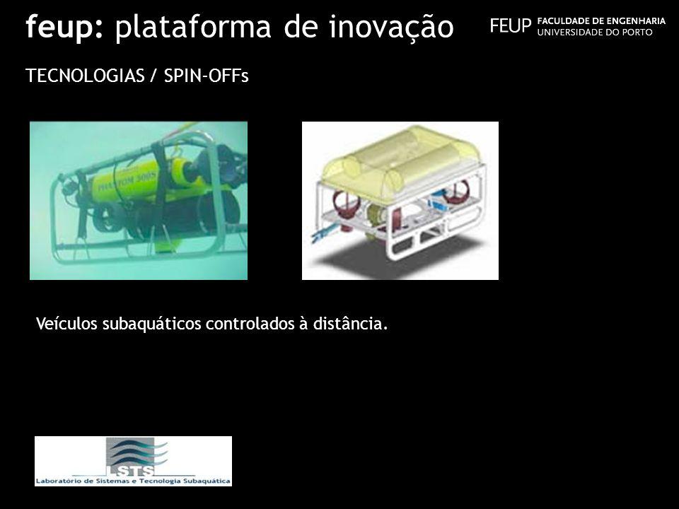 feup: plataforma de inovação TECNOLOGIAS / SPIN-OFFs Veículos subaquáticos controlados à distância.